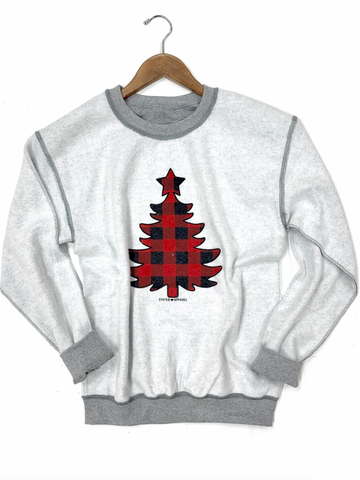Buffalo Plaid Christmas Tree Inverted Sweatshirt