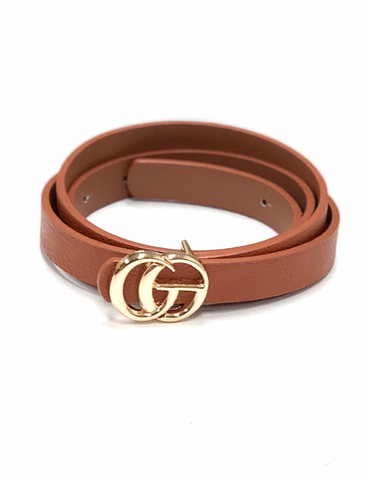 Tiny G Belt- Cognac
