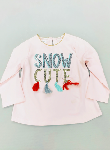 Snow Cute Kid's Tassel Tunic