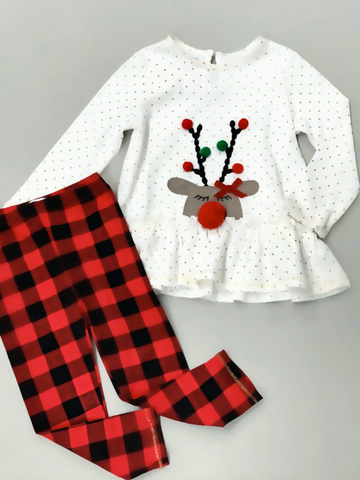 Alpine Check Tunic And Legging Set