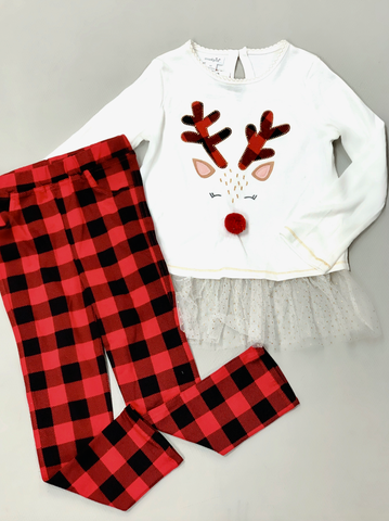 Alpine Reindeer Tunic And Legging Set