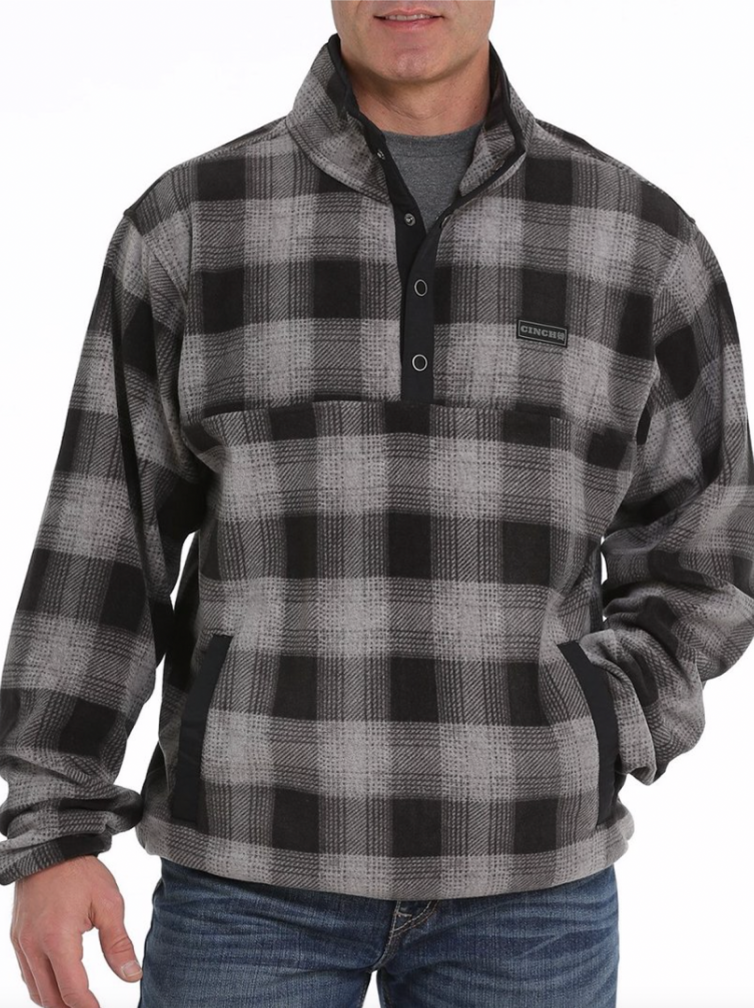 Men's Plaid Fleece Pullover