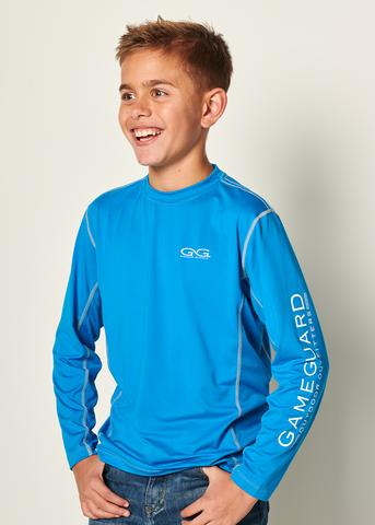GameGuard Youth Performance Tee Branded Long Sleeve - Atlantic
