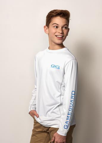 GameGuard Youth Performance Tee Branded Long Sleeve - White