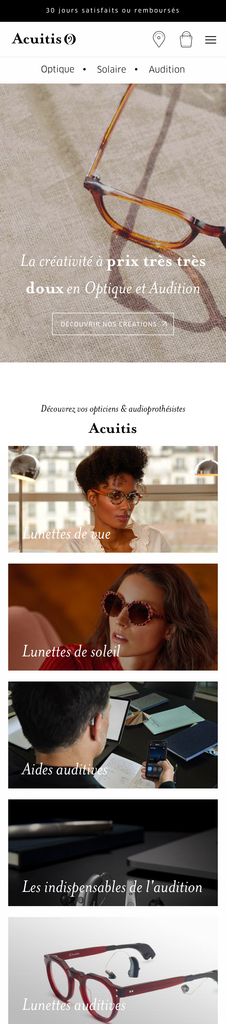 Acuitis - Homepage Mobile