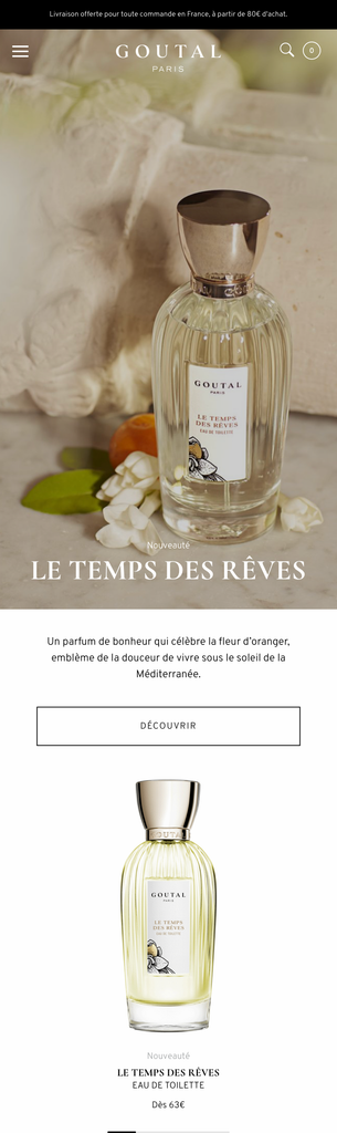 Goutal - Homepage Mobile