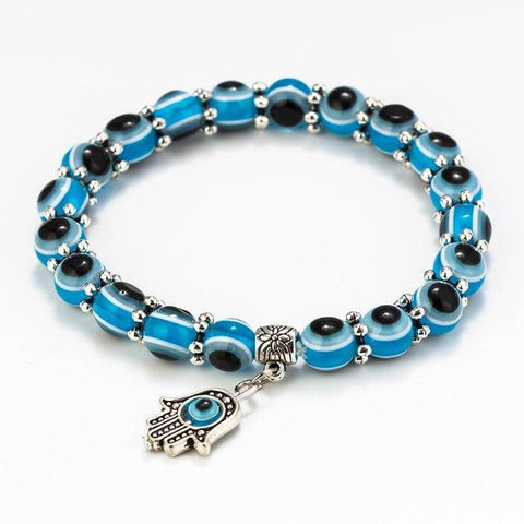 Image of Lucky Hand Bracelet Blue Evil Eye Charms Bracelets - Malojo | Evil Eye Store
