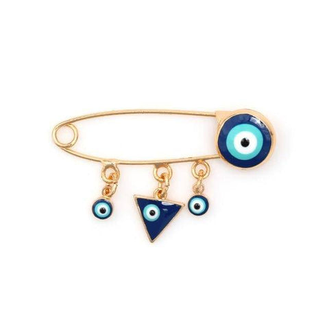 Image of Evil Eye Brooch Pin - Malojo | Evil Eye Store