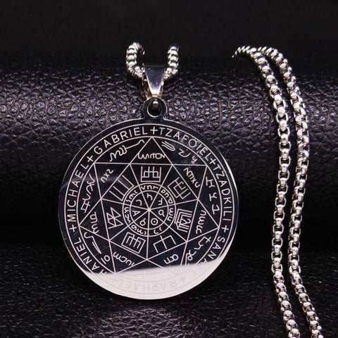 Image of Seven Archangels Stainless Steel Necklaces - Malojo | Evil Eye Store