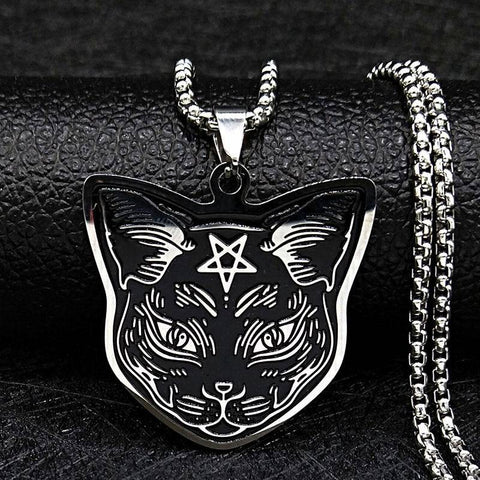 5 styles Stainless Steel Necklace Chain Women Black Color - Malojo | Evil Eye Store