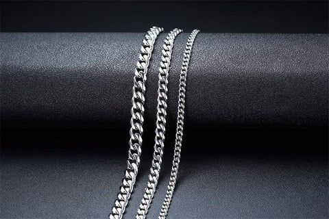 Image of NEW MEN CUBAN LINK CHAIN NECKLACE THICK CURB CHAIN CHOKER - Malojo | Evil Eye Store