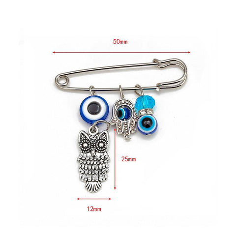 1pc fashion evil eye brooch - Malojo | Evil Eye Store