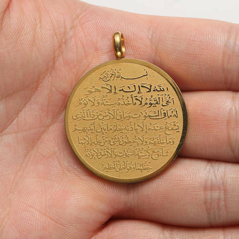 Image of High Quality Metal Necklace Islam Muslim Arabic - Malojo | Evil Eye Store