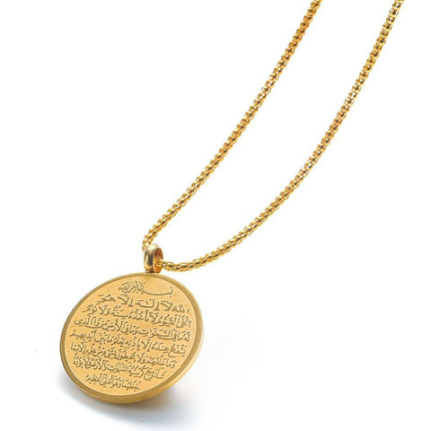 High Quality Metal Necklace Islam Muslim Arabic - Malojo | Evil Eye Store