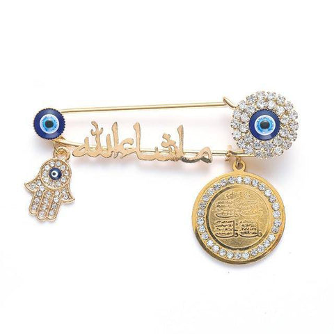Islam Metal Brooch Collection - Malojo | Evil Eye Store