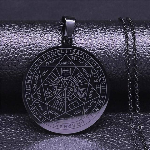 Seven Archangels Stainless Steel Necklaces - Malojo | Evil Eye Store