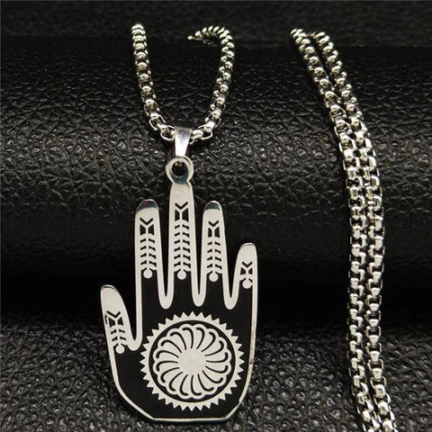 Hamsa Hand Stainless Steel Necklaces - Malojo | Evil Eye Store