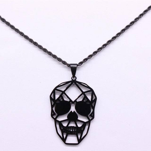 2021 Black Skull Stainless Steel Chain Necklace - Malojo | Evil Eye Store