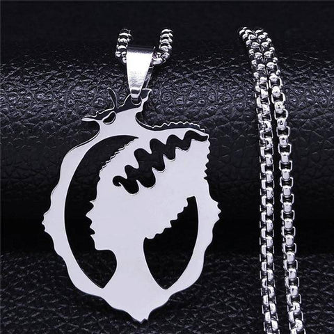 2021 Witch Broom Cat Stainless Steel Necklace - Malojo | Evil Eye Store