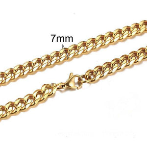NEW MEN CUBAN LINK CHAIN NECKLACE THICK CURB CHAIN CHOKER - Malojo | Evil Eye Store