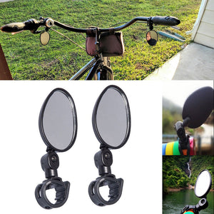 Universal Rotary Handlebar Glass Rear View Mirror for Road Bike Bicycle