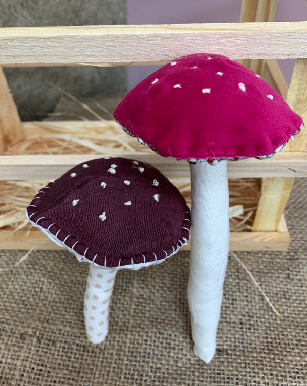 Stitched and Stuffed Toadstools!