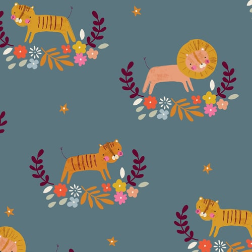 Image of Fabric-Dashwood-Studios-Meadow-Safari-Big-Cats