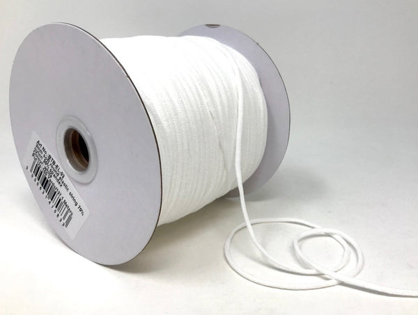 3mm Extra Soft Elastic Cord - White