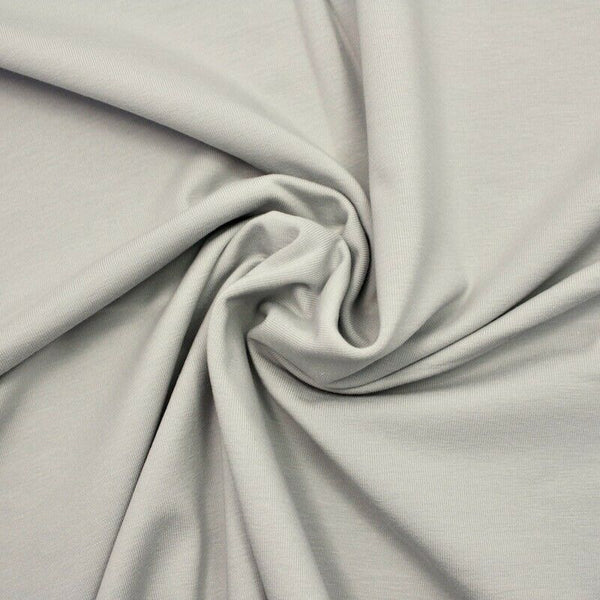 French Cotton Jersey Plain - Pale Grey