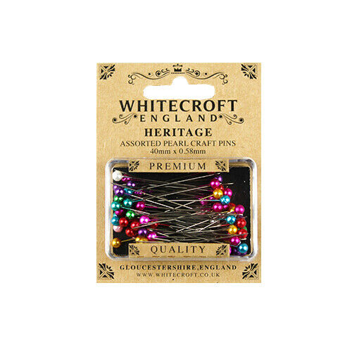 Whitecroft Heritage Pearl Head Assorted Craft Pins