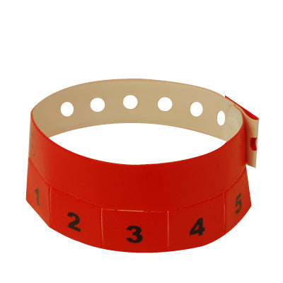 Plastic Tear-Off Tab Wristbands