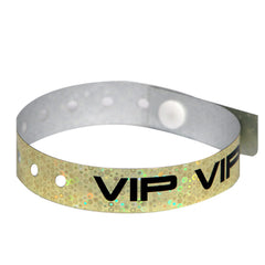 Gold Holographic Wristbands