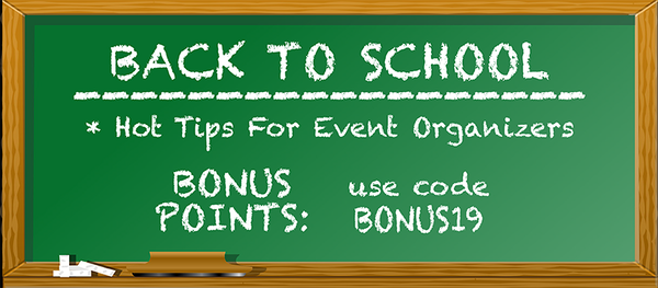 Back to School: Hot Tips For Events Organizers