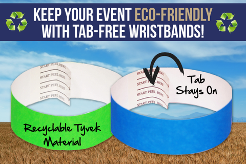 keep your event eco-friendly with tab-free wristbands