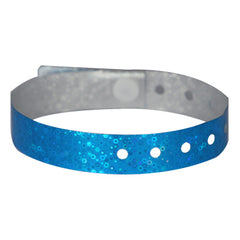 Blue Holographic Wristbands