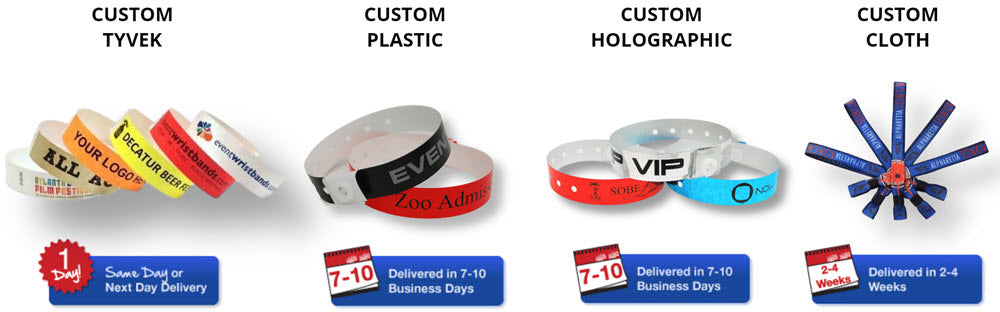 Custom Wristband Options