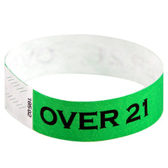 Green Over 21 Wristbands