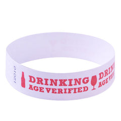 Drinking Age Verified Tyvek Wristbands