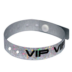 VIP Silver Holographic Wristbands