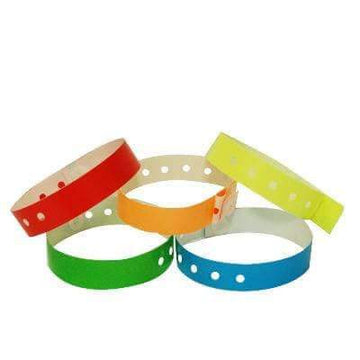 "Variety Pack of 500 3/4"" Plastic Wristbands - Solid Colors"