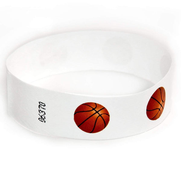 "3/4"" Tyvek Wristbands Pre-Printed Sports"