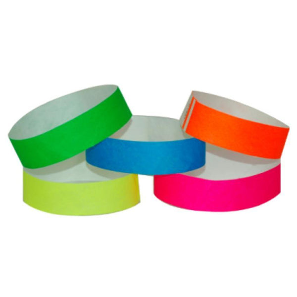 "Event Wristbands Tyvek Stock - Variety Solid / Variety Pack / 500 Variety Pack of 500 3/4"" Tyvek Wristbands"