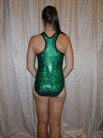 Racer Back - Emerald Cracked Glass