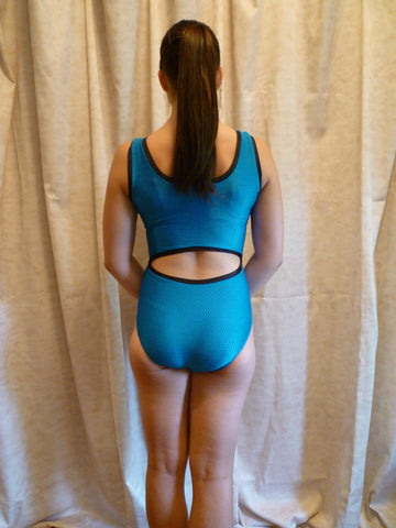 Open Back Teal Texture