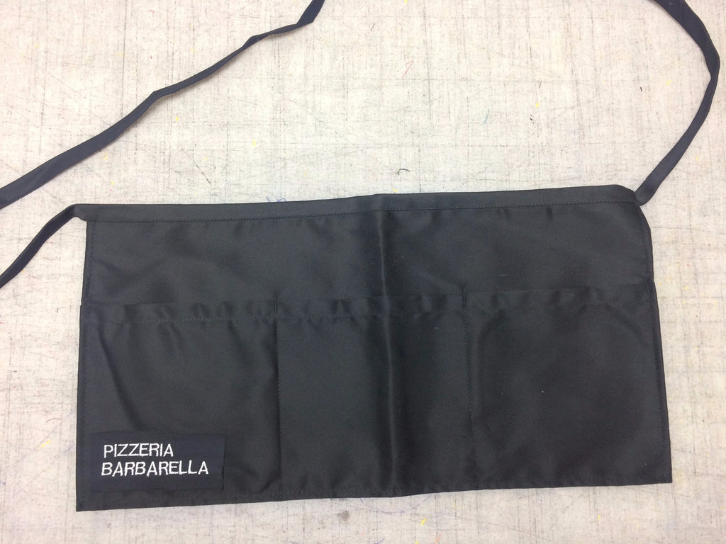 Waiter's 3 pocket apron w/ 2 word embroidery