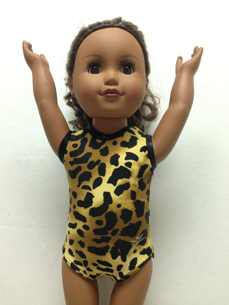 Brown Leopard Doll Bodysuit
