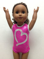 Doll Bodysuit - Open Heart Fuchsia