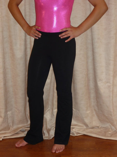 Dance Pant- Black Cotton / Lycra