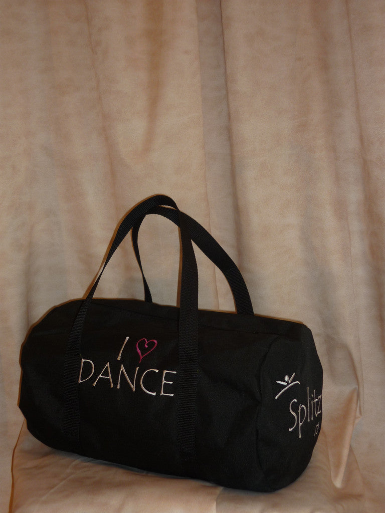 Black Roll Bag w/ Embroidery
