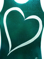Heart- Open plus 1 Emerald Mystique Tank Bodysuit